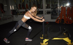 Picture look, pose, figure, fitness, pose, athlete, Nina Agdal, workout, workout, gym, fitness, gym, Nina Agdal, …