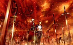Picture swords, swords, Archer, Emiya Shirou, Fate stay night, Fate / Stay Night, infinite blades edge