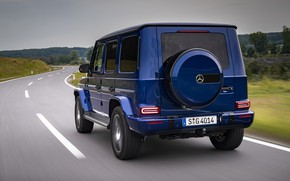 Picture road, blue, Mercedes-Benz, SUV, 4x4, G-Class, 2019