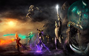 Picture space, weapons, the game, soldiers, armor, characters, Warframe