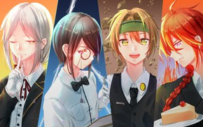 Picture collage, anime, guys