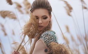 Picture girl, face, pose, mood, makeup, reed, Vladimir Sereda, Alexander Martynov