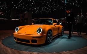 Picture orange, lights, Porsche, Porsche, Orange, Porsche, Porsche 911