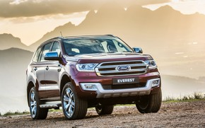 Picture Ford, Everest, Limited, 4WD, 2015, линия гор
