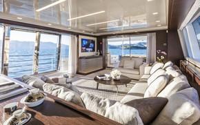 Picture interior, yacht, salon, Yacht AnnA