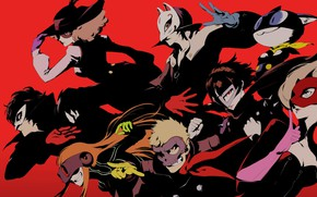 Picture color, characters, Person 5, Persona 5