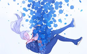 Picture roses, anime, art, soars, Yuri on Ice, Viktor Nikiforov