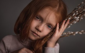 Picture portrait, girl, Elina Garipova