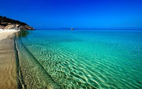 Picture beach, water, transparency, the ocean, shore