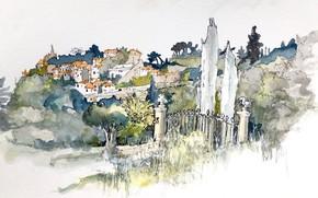 Picture figure, France, Bonnieux, Provence-Alpes-Cote d'azur