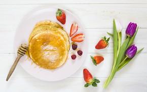 Picture berries, food, Breakfast, coffe, breakfast, pancakes