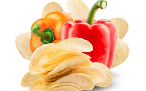 Picture pepper, vegetables, chips