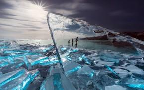 Picture sea, shore, ice