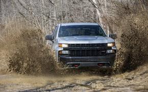 Picture squirt, Chevrolet, dirt, pickup, Custom, Silverado, 2020