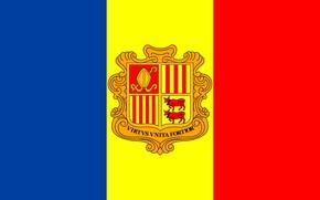 Picture flag, fon, flag, coat of arms, andorra, Andorra
