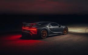 Picture light, night, Bugatti, Chiron, 2020, Chiron Pur Sport