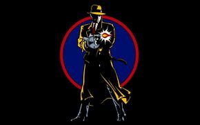 Picture hat, shot, machine, cloak, detective, detective, Thompson, дик трейси, dick tracy