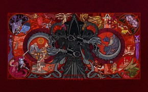 Picture The game, Angel, Style, Fantasy, Art, Art, Jian Guo, Diablo 3, Style, Fiction, Angel, Game, …