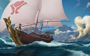 Picture ship, sailboat, Miss Fortune, Legends of Runeterra