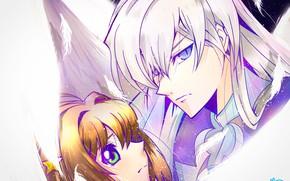 Picture anime, girl, guy, Card Captor Sakura, Sakura - collector cards