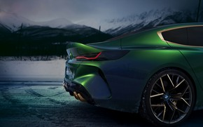 Picture coupe, BMW, 2018, the rear part, M8 Gran Coupe Concept