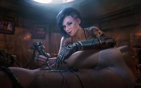 Picture Girl, Future, Wire, Mechanics, Art, Art, Fiction, Cyborg, Illustration, Concept Art, Technology, Cyberpunk 2077, Characters, ...