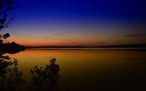 Picture lake, glow, Finland