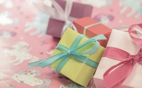Picture holiday, box, gift, tape, gifts, bows, bow, different, box, bows