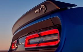 Picture Dodge, Challenger, rear view, Hellcat, SRT, Widebody, 2019