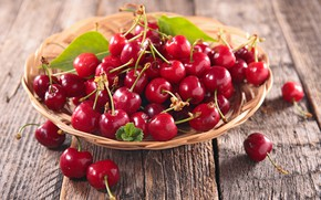 Picture fruit, cherry, basket