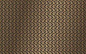Picture background, gold, pattern, texture, black background