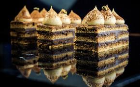 Picture cake, cream, dessert, chocolate, meringue