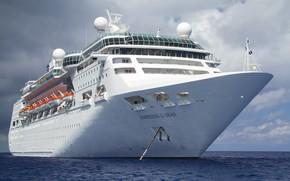 Picture The ocean, Sea, Liner, The ship, Royal Caribbean International, Tank, Passenger ship, Cruise Ship, Empress …