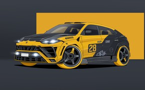 Picture Art, Transport, Lamborghini Urus, Transport & Vehicles, Dmitry Strukov, by Dmitry Strukov, Crazy Urus