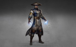 Picture Minimalism, Style, Warrior, Fighter, Style, Warrior, Fiction, Mortal Kombat, Fiction, Raiden, Illustration, Character, Raiden, Fighter, …