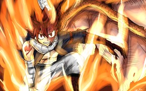 Picture fire, wing, Fairy Tail, Natsu Dragneel, Fairy tail