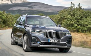 Picture road, mountains, BMW X7