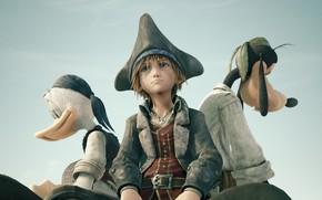 Picture sadness, background, boy, pirates, Goofy, Donald Duck, Donald Duck, Sora, Goofy, Kingdom Hearts, Kingdom Hearts …