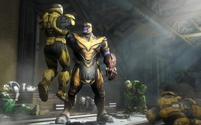 Picture halo, spartan, master chief, titan, thanos, avengers infinity war, spartans