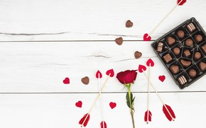 Picture romance, rose, Love, hearts, red, Chocolate, roses, Heart, Valentines Day
