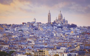 Wallpaper France, Paris, panorama, Montmartre, sacré-Coeur