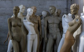 Picture background, room, mannequins