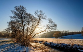 Picture winter, landscape, nature, river, beauty