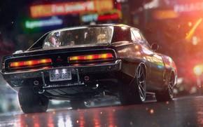 Picture Auto, Night, Machine, Dodge, Charger, Dodge Charger, Rendering, Dodge Charger R/T, Transport & Vehicles, Togrul …