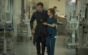 Picture girl, hospital, Benedict Cumberbatch, still from the film, English, Actor, Doctor Strange, Doctor Strange