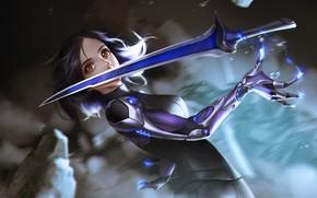 Picture Art, Robot, Illustration, Sword, Alita: Battle Angel, Alita, Battle Angel, Alita fans art, Hinson Lew