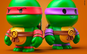 Picture toys, doll, equipment, turtles, layouts