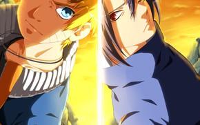 Picture Naruto, boys, Uchiha Sasuke, Naruto Uzumaki