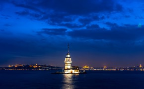 Picture Istanbul, Turkey, Istanbul, Turkey, Maiden tower, Sea of Marmara, Maiden's Tower, The Maiden's Tower