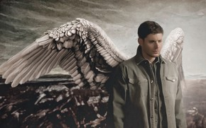 Picture wings, angel, Dean, Supernatural, Dean Winchester, Michael